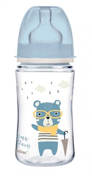 Antikoliková lahvička Canpol Babies Easy Start - Bonjour, 240 ml