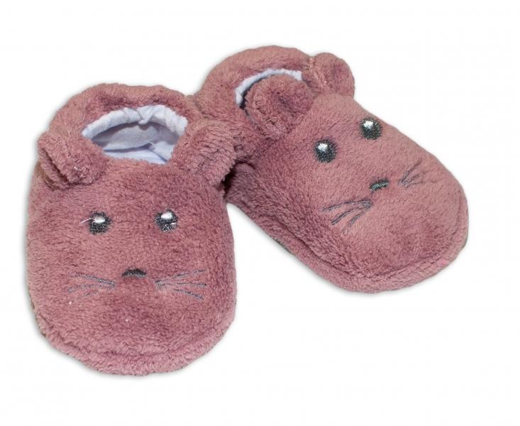 Botičky/capáčky/papučky 12-18m Risocks Myšička  - fialová