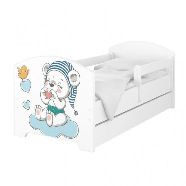 BabyBoo Dětská postel 140 x 70cm -  Medvídek s čepicí
