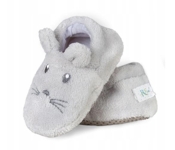 Botičky/capáčky/papučky 12-18m Risocks Myšička  - šedá