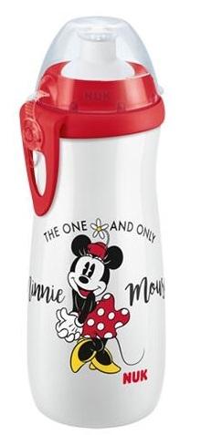 NUK Sports Cup láhev 450 ml - Myška Minnie, bílá, červená