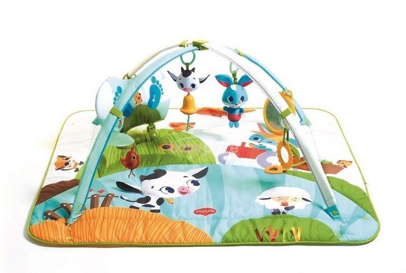 TINY LOVE Hrací deka s hrazdou Farma