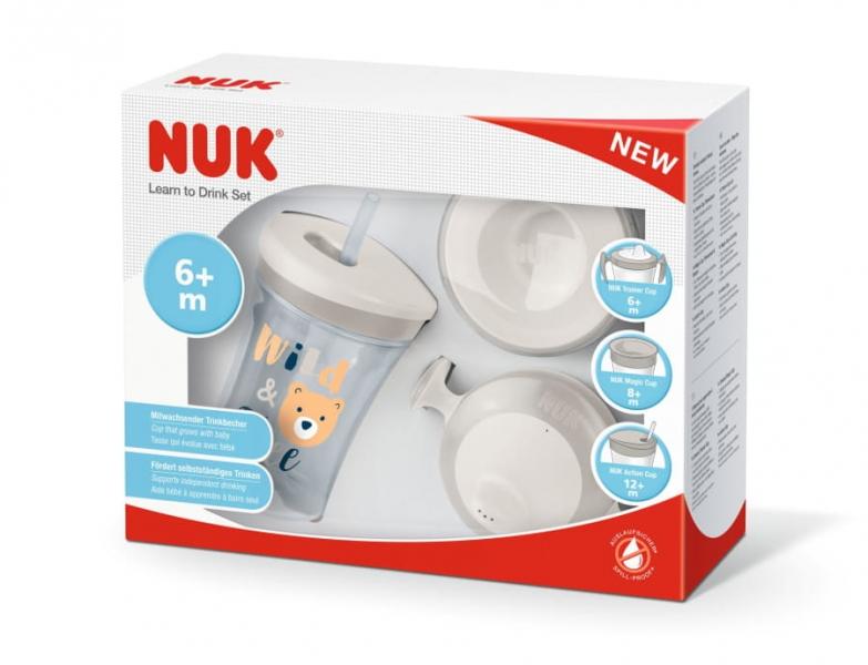 NUK Sada Evolution 3v1 v dárkové krabičce, 230 ml