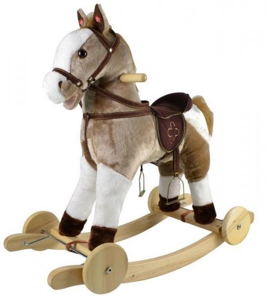 Cuddle&Love  Houpací Koník-Mustang s melodií - béžový
