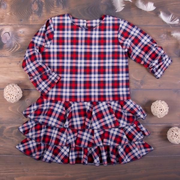 K-Baby Dětské šatičky Kárko - červené, vel. 104