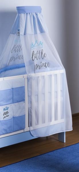 VÝPRODEJ Baby Nellys 4-dílná sada mantinel s povlečením Little Prince + nebesa, modrá