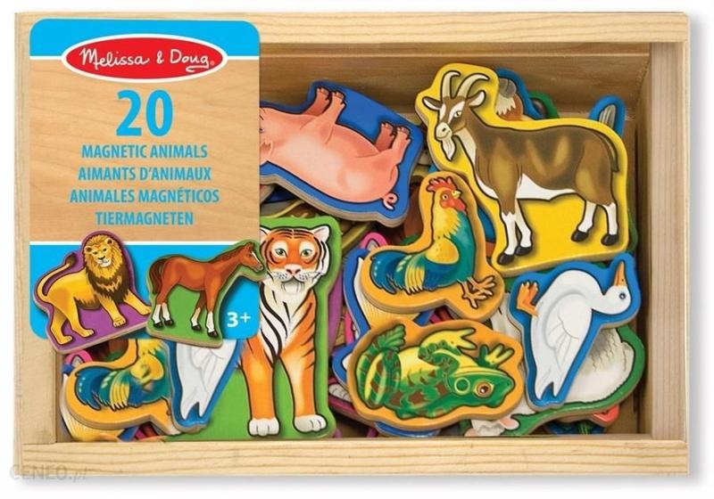 Melissa&Doug Dřevěné magnetky - Zoo