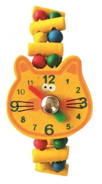 Bino Dřevěné náramkové hodinky - Kočička