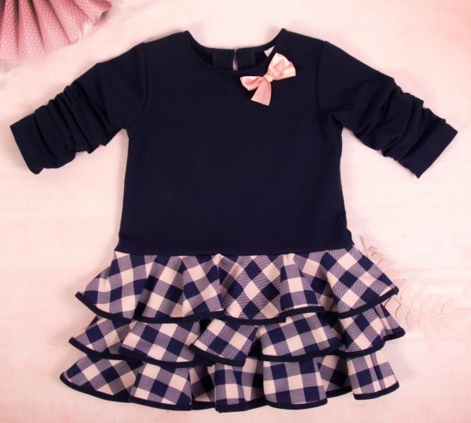 K-Baby Dětské šatičky Kárko mašlička, růžová, vel. 98, Velikost: 98 (24-36m)