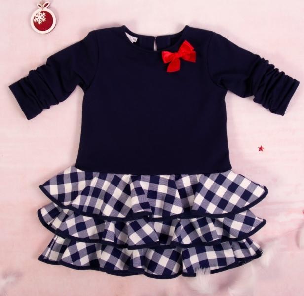 K-Baby Dětské šatičky Kárko mašlička, červená, vel. 104, Velikost: 104