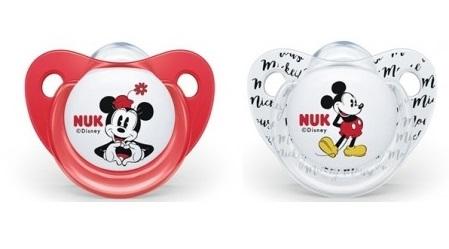 NUK Symetrický dudlík - Mickey, červená/bílá, 0-6m +
