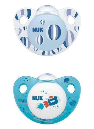 NUK Symetrický silikonový dudlík klučičí - 0-6m +