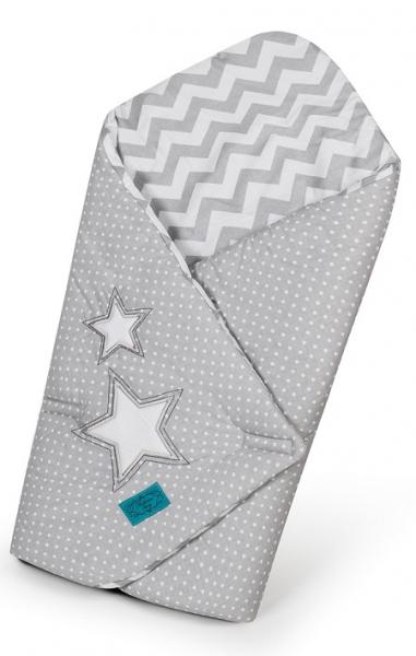 Belisima Zavinovačka s kokosovou vložkou - Hvězdy s puntíky, zig zag - šedá