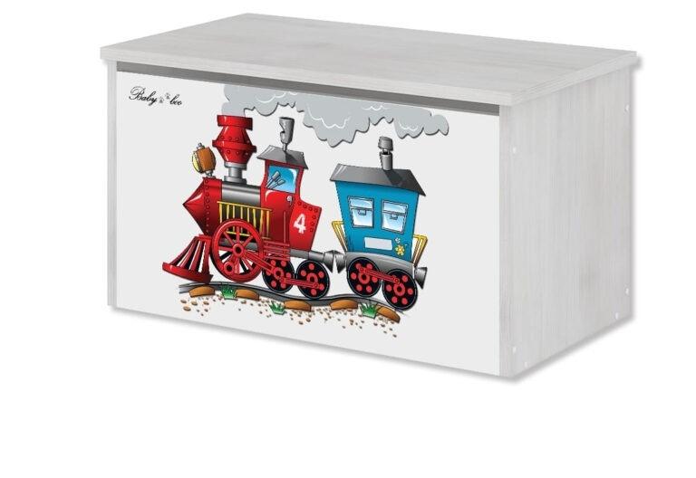 BabyBoo Box na hračky s motivem Vláček