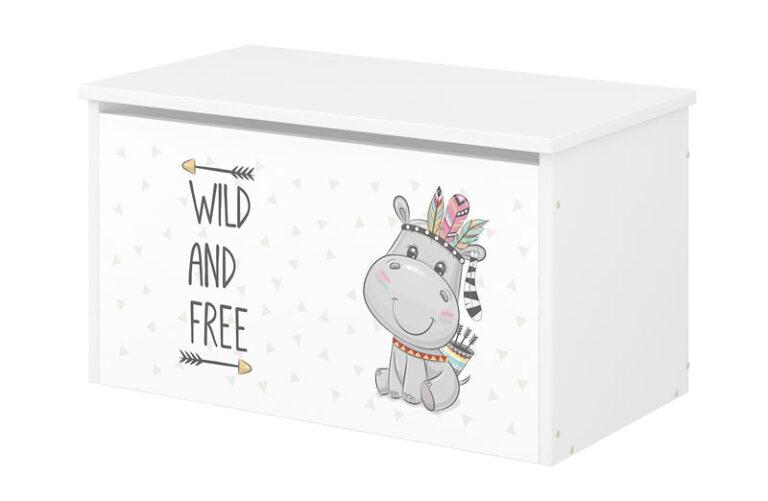 BabyBoo Box na hračky s motivem Hippo