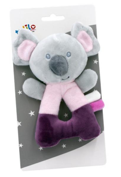 Tulilo Plyšové chrastítko Koala - růžová