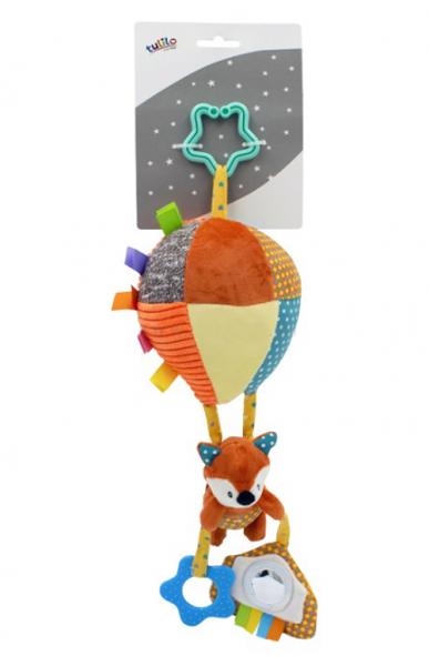 Tulilo Závěsná plyšová hračka s rolničkou Letající balón - Liška