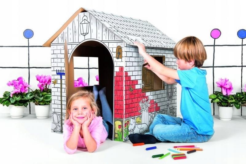 Dětský zahradní kartonový domek Tektorado