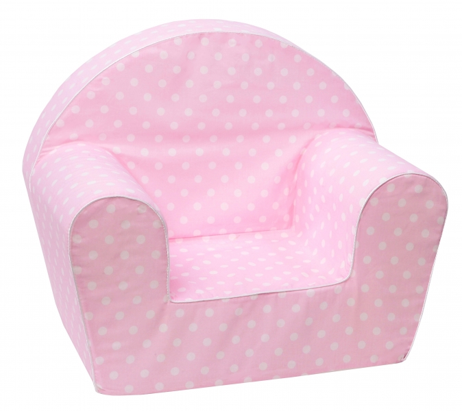 Delsit Dětské křesílko, pohovka - Mini Bubbles v růžové