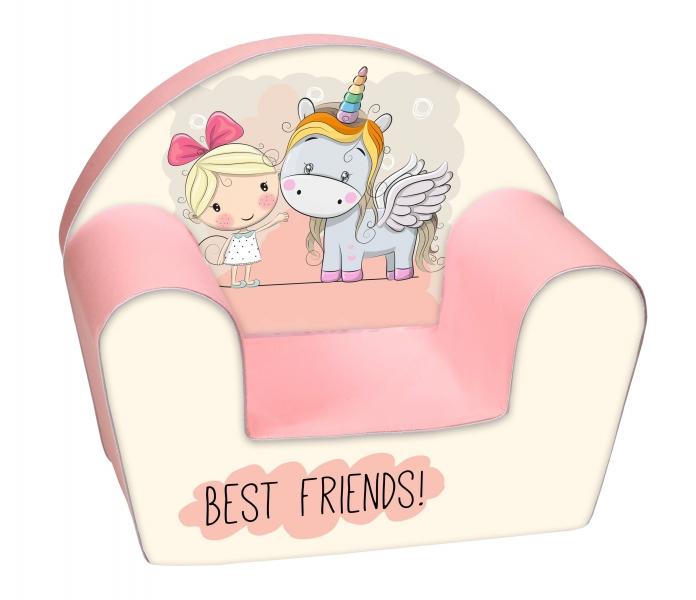 Delsit Dětské křesílko, pohovka - Best Friends Girl and Ponny