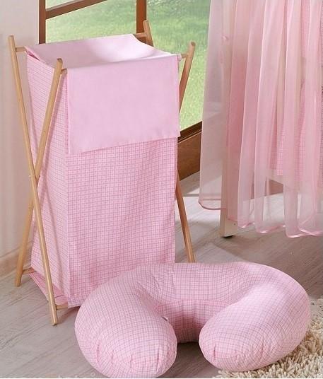 Mamo Tato Praktický koš na prádlo - Kostička růžová