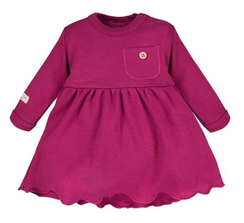 EEVI Dívčí tunika/šaty s kapsičkou - bordó