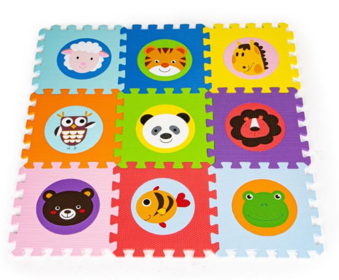 ECO TOYS Pěnové puzzle - Zvířátka - 9ks
