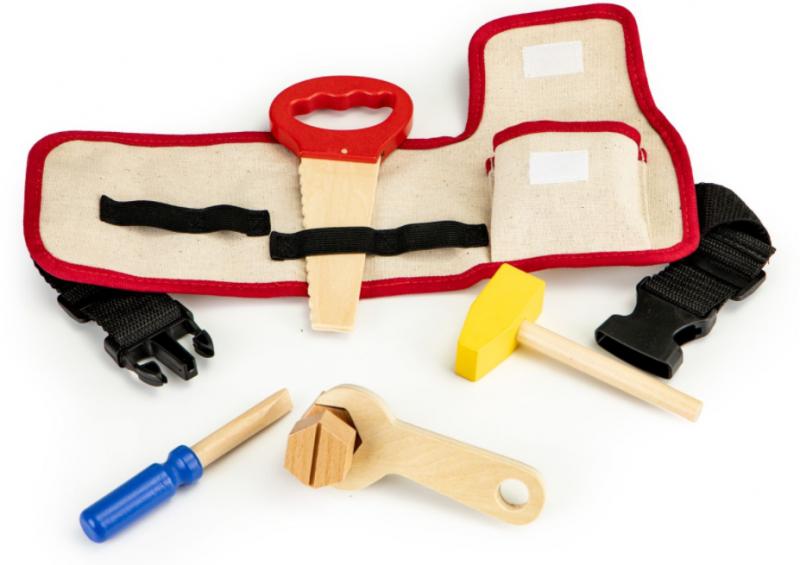 ECO TOYS Dřevěné nářadí pro děti s opaskem