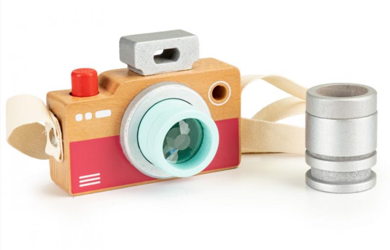 ECO TOYS Dřevěný fotoaparát - kaleidoskop