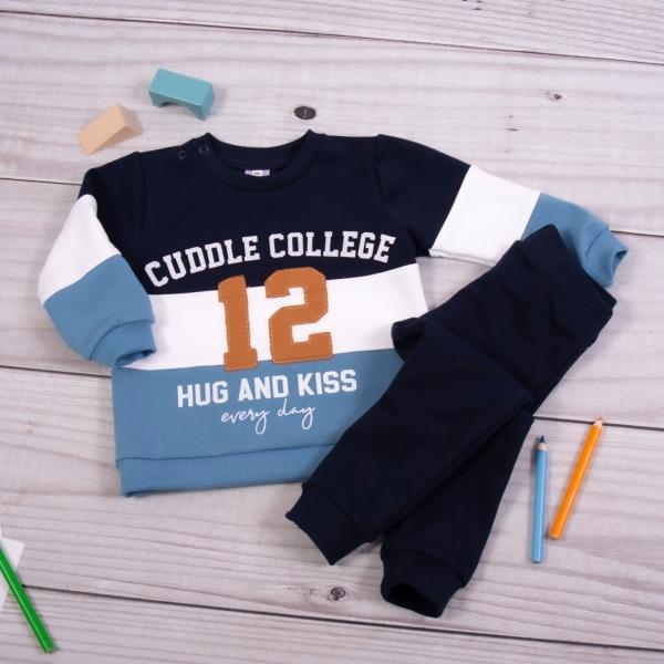 K-Baby Tepláková souprava College - granát/modrá, vel. 86, Velikost: 86 (12-18m)