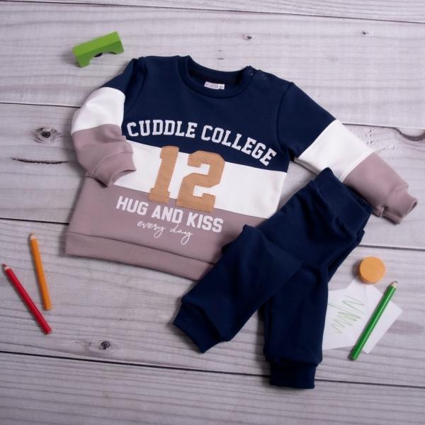K-Baby Tepláková souprava College - granát/cappuccino, vel. 74