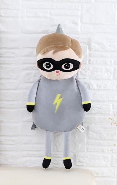 Dětský batůžek Metoo Super Boy - šedý