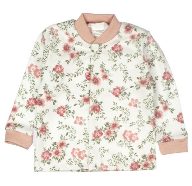MBaby Novozenecká bavlněná košilka, kabátek Rose - pudrová, vel. 68