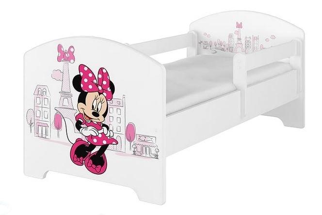 BabyBoo Dětská postel Disney - Minnie Paris - bílá, s matrací, 160 x 80 cm + šuplík