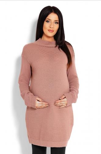 Be MaaMaa Těhotenský svetr, tunika - cappucino