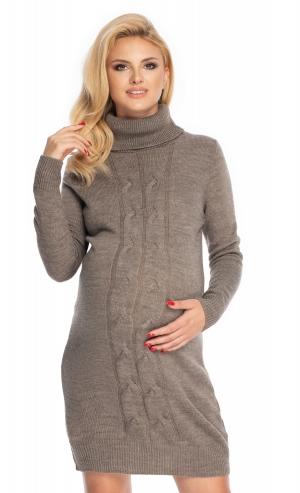 Be MaaMaa Těhotenské šaty - svetříkové, šedé