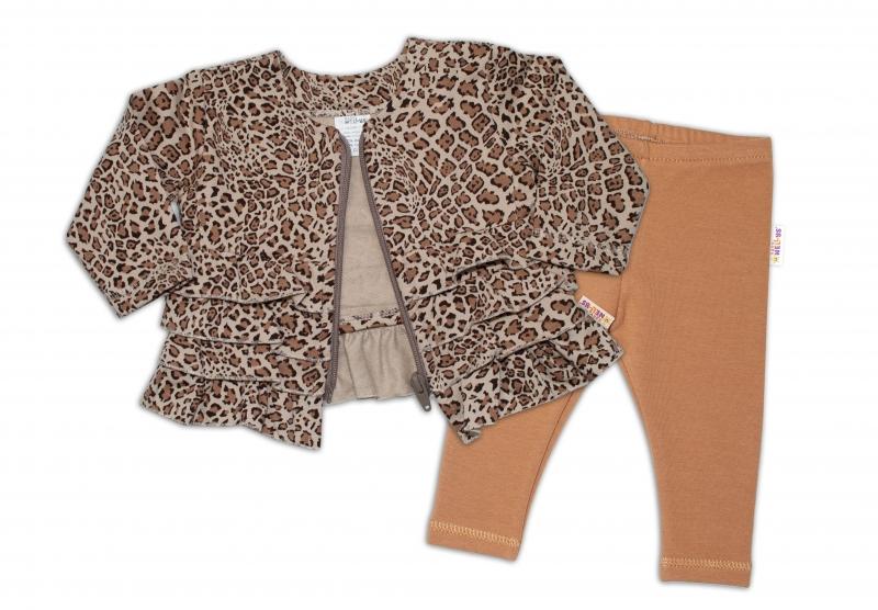 BABY NELLYS Tepláková souprava Gepard, 2 dílná, hnědá, vel. 80, Velikost: 80 (9-12m)