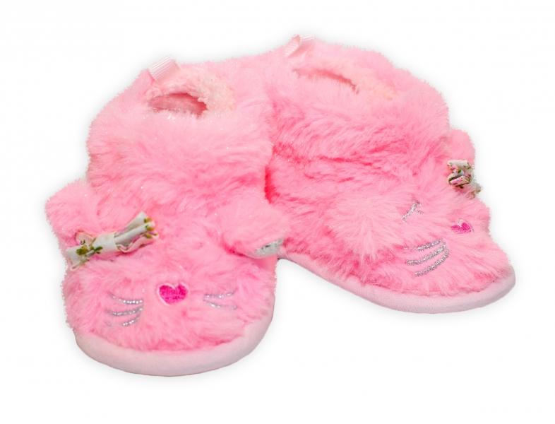 YO ! Zimní chlupáčkové botičky/capáčky Kočička YO! - růžové