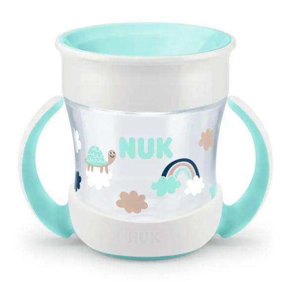 Hrneček NUK Mini Magic Cup s úchyty - Želva, 160 ml,  6m+