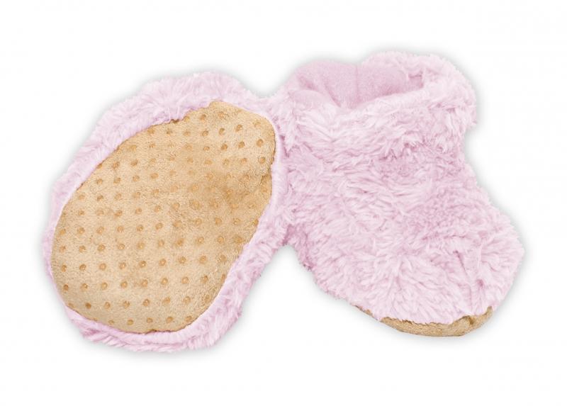 YO ! Zimní chlupáčkové botičky/capáčky YO! - sv. růžová, 0-6m