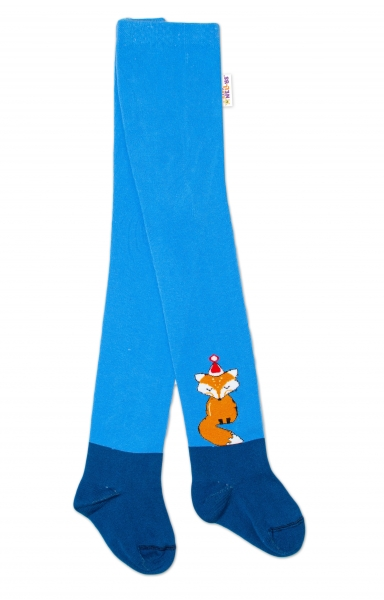 Baby Nellys Dětské punčocháče bavlněné, Fox, jeans-modrá, 1ks, Velikost: 62/74