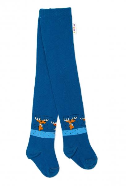 Baby Nellys Dětské punčocháče bavlněné, Los, jeans, 1ks