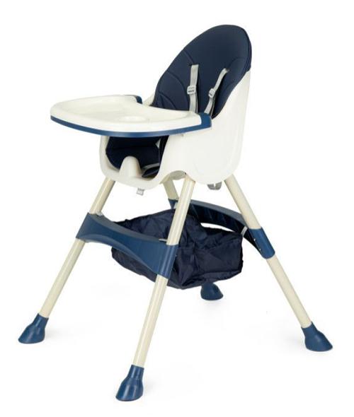 ECO TOYS Jídelní židlička, stoleček 2v1 - modrá