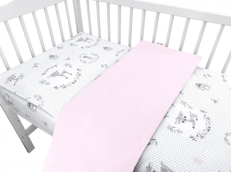 Baby Nellys 2-dílné bavlněné povlečení, Koloušek - růžový, Velikost: 120x90