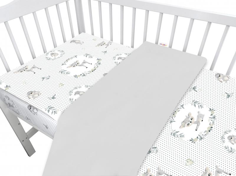 Baby Nellys 2-dílné bavlněné povlečení, Koloušek - šedý, 135 x 100