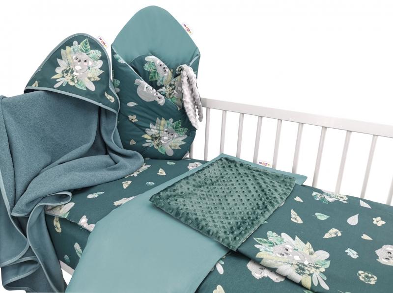 Baby Nellys 6-ti dílná výhod. sada s dárkem, 120 x 90, Tropical Koala - zelená