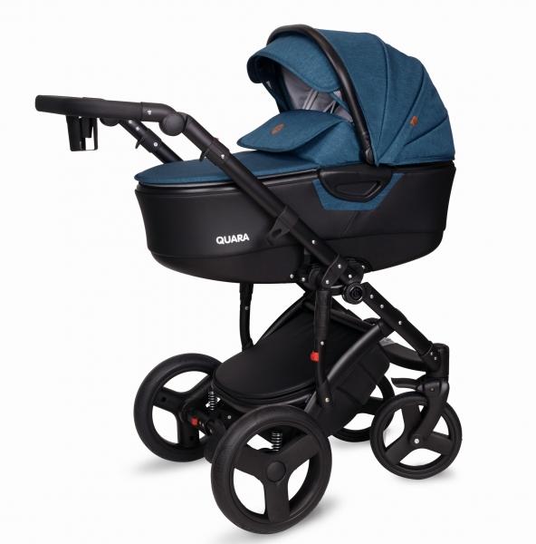 Kočárek Coto Baby 2 v 1 QUARA Eco 2021 - Len Turkus dark Eco