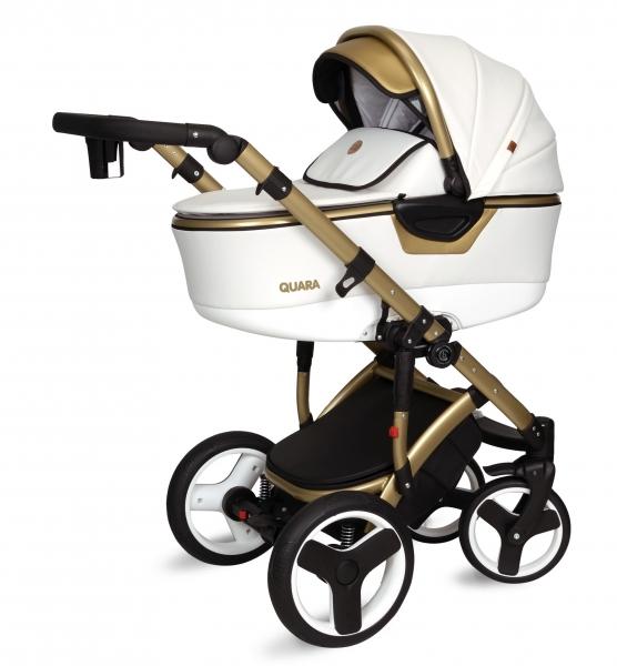 Kočárek Coto Baby 2 v 1 QUARA Eco 2021 - white, gold