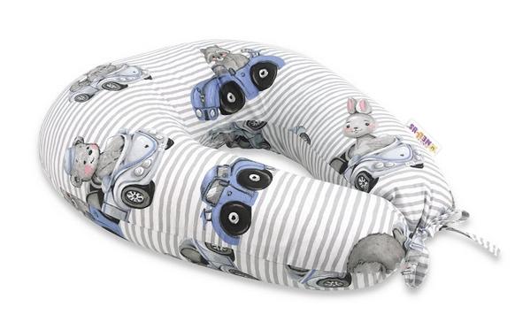 Baby Nellys Bavlněný kojící polštář, Baby Car - modrá