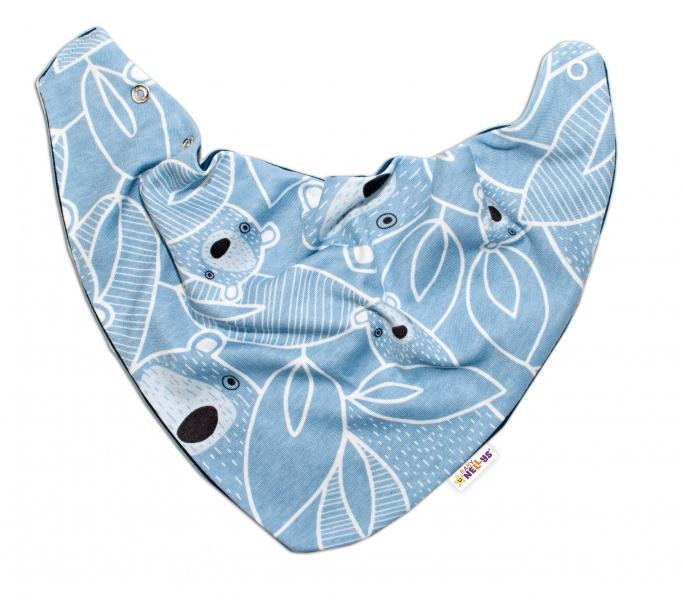 Baby Nellys Dětský šátek na krk Medvídek, modrý, Velikost: univerzální